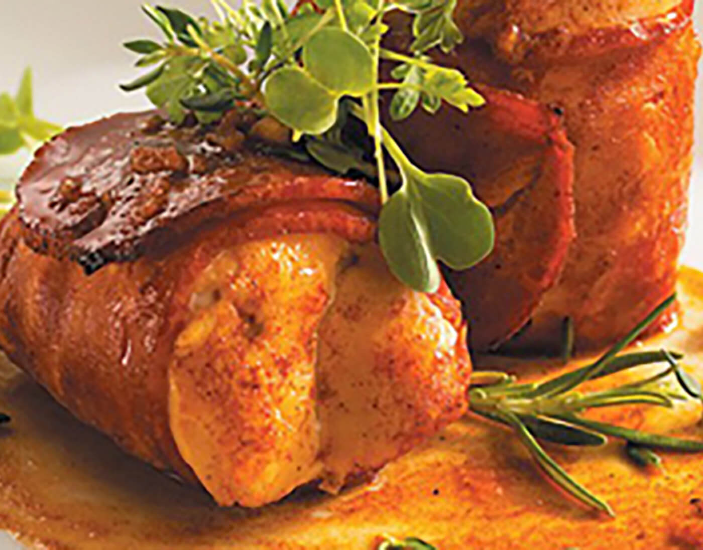 Bacon-Wrapped Turkey Medallions