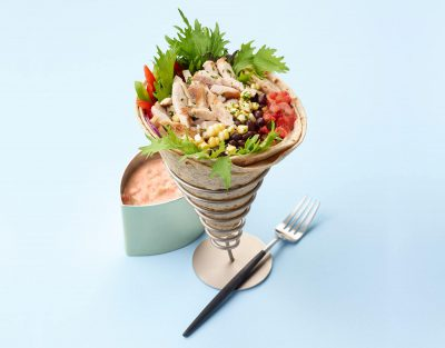 Baja Turkey Salad Wrap