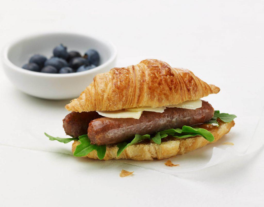 Breakfast Turkey Sausage Croissant