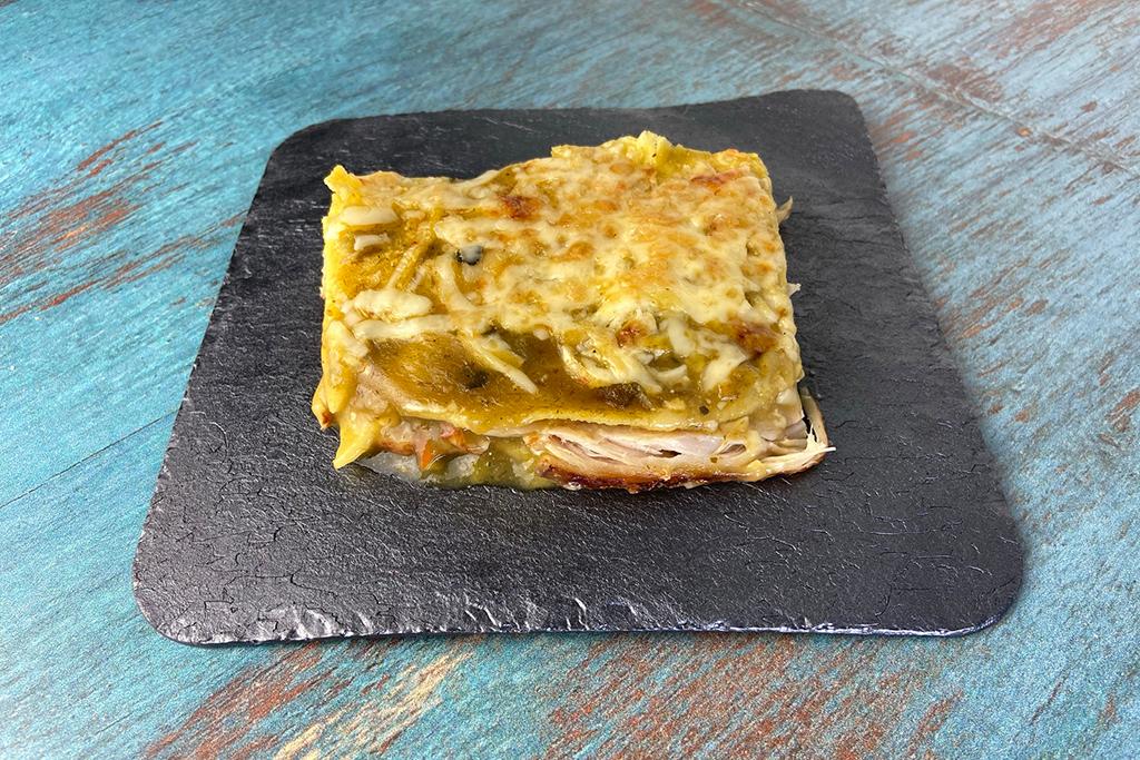 Green Chili Turkey Enchilada Bake