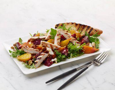 Grilled Turkey and Marinated Beet Salad