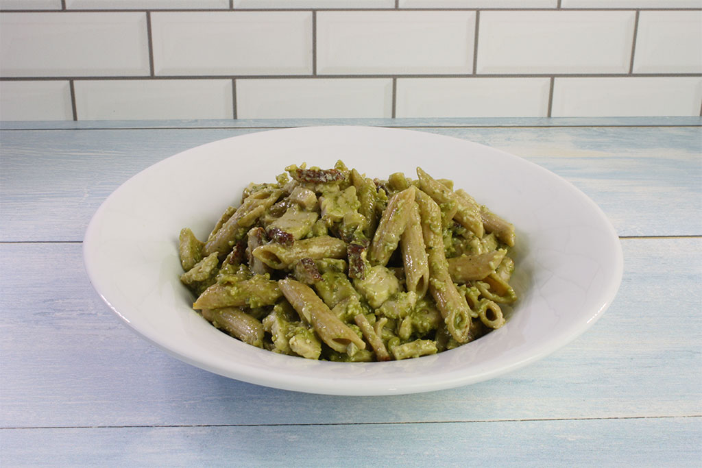 Creamy Turkey Pesto Penne