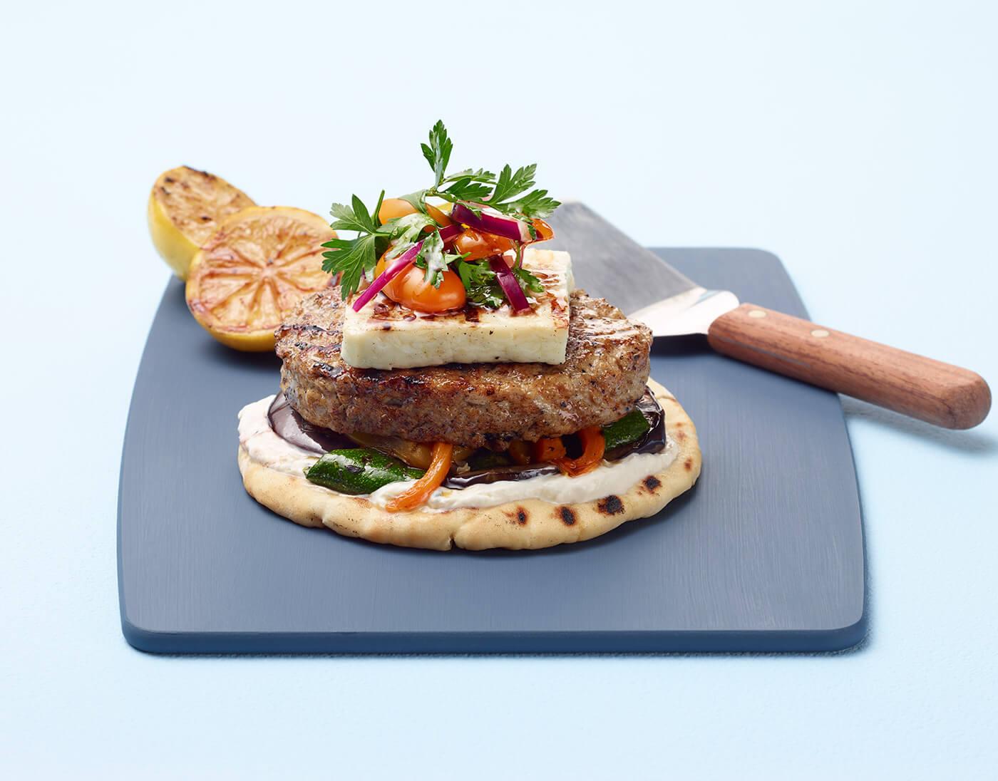 Mediterranean Turkey Burger