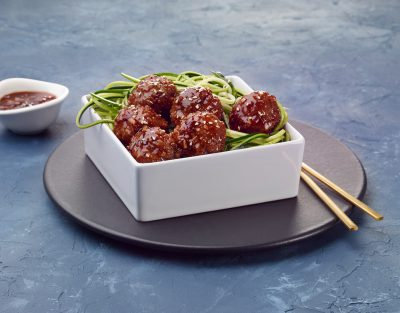 Singapore Meatballs and Zoodles