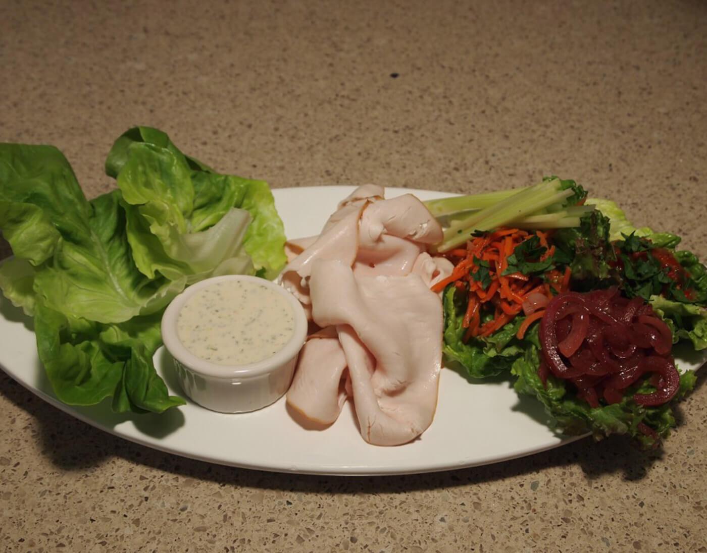 Sliced Turkey Lettuce Wrap