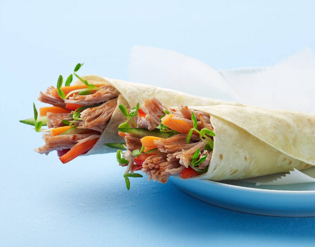 Tangy Asian BBQ Wrap