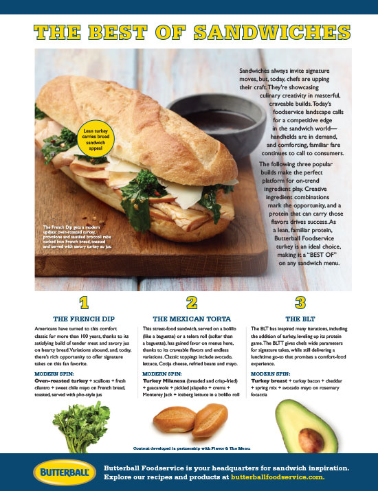3 Sandwich Builds Made Better with Turkey