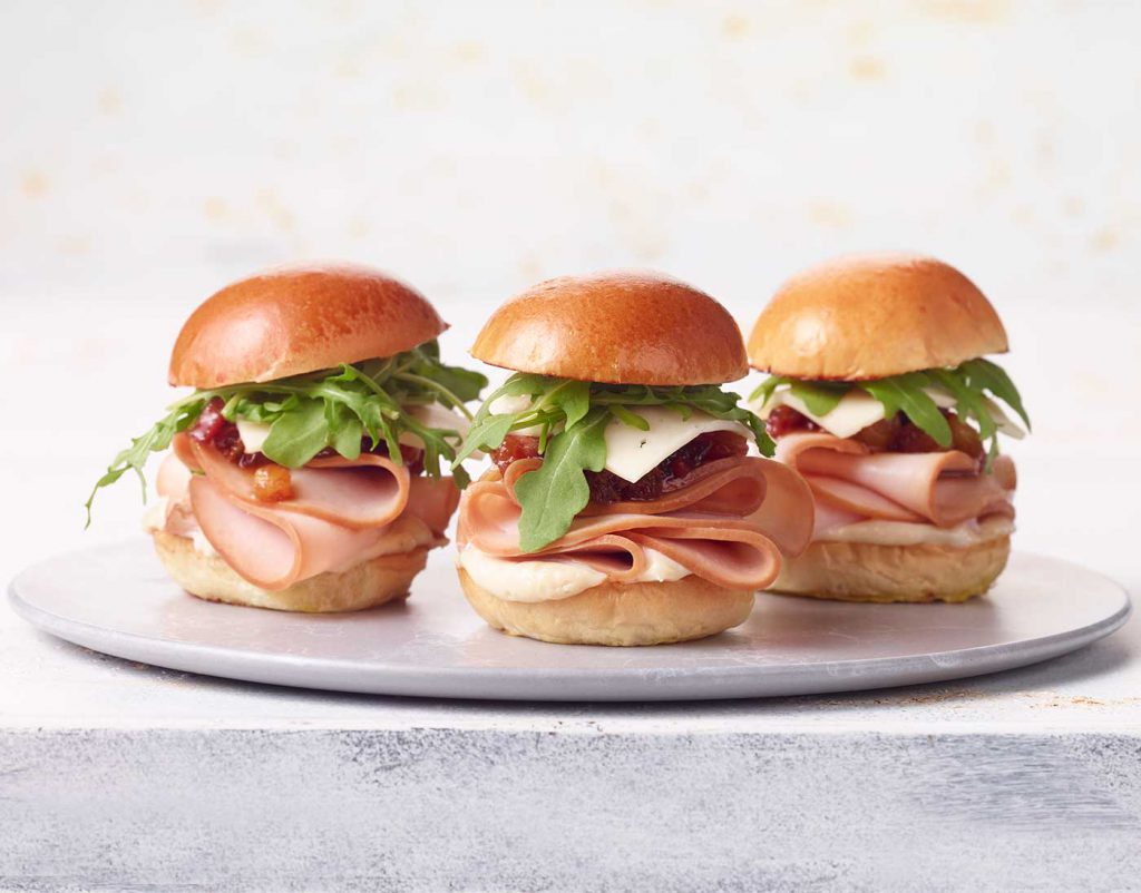 Turkey and Swiss Sliders
