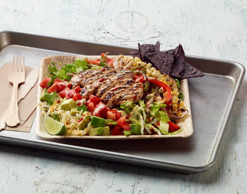 Turkey Burger Fajita Salad