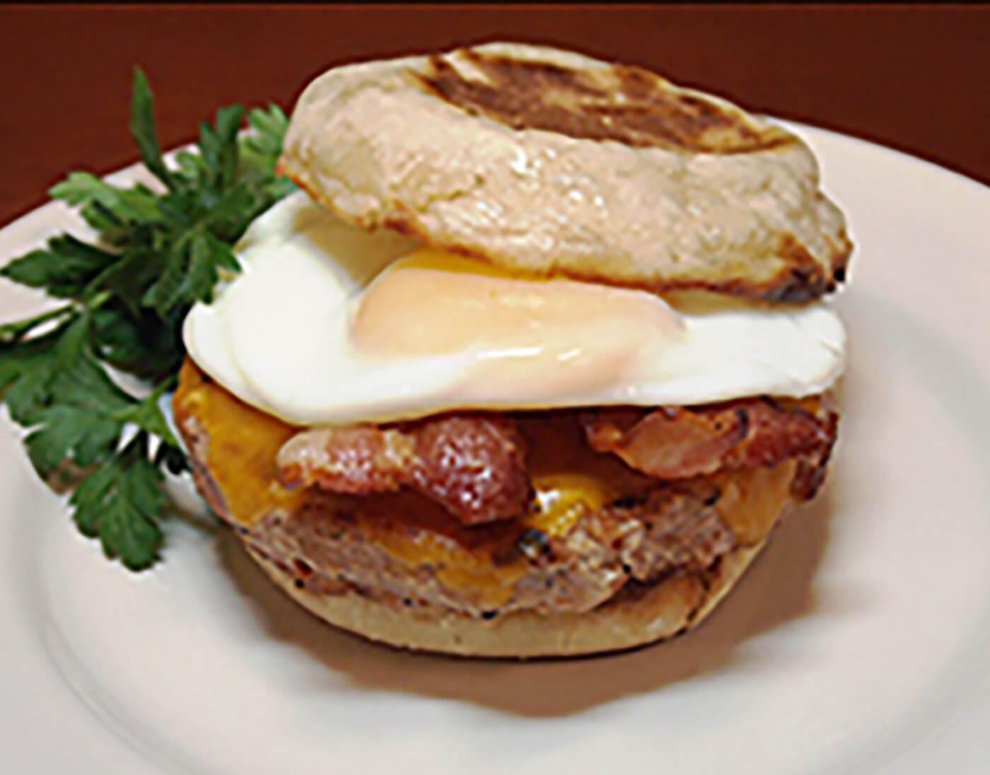 Turkey & Egg Breakfast Burger