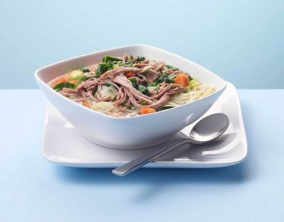 Turkey Sweet Potato & Noodle Soup